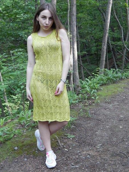 Вязанное платье из хлопка