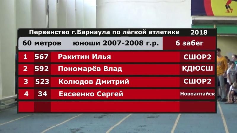 Открытое первенство города Барнаула по лёгкой атлетике - 2018