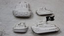 Colors to learn with ships and boats sand molds toys for kids