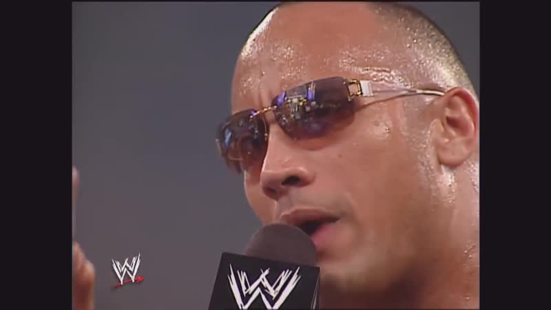 The Rock Returns On The Highlight Reel The Rock Goes Out To The Crowd Raw, June 2, 2003