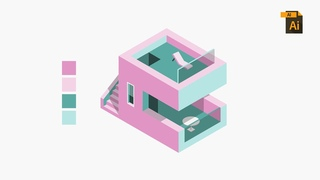 Build An ISOMETRIC HOUSE In Adobe Illustrator
