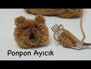 Ponpon Ayıcık / örgü patik, şapka, yelek, atkıya koyun yada anahtarlık yapın / Figen Ararat