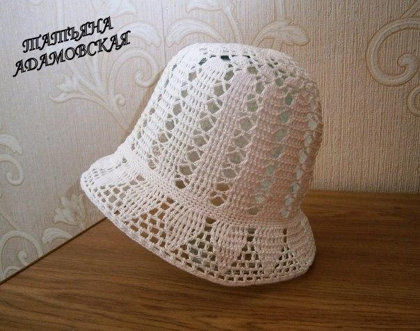 Летняя шляпка крючком для девочки 6-8 месяцев… (3 фото) - картинка