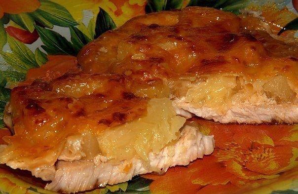 Рецепт мясо по-французски с ананасами фото рецепт