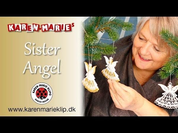 Quilling Sister Angle Søster engel - Karen Marie Klip Papir