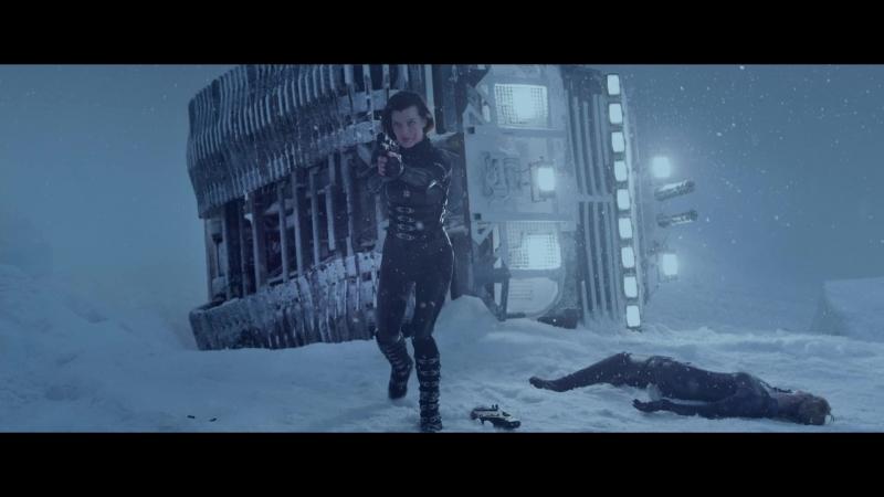 Обитель зла 5 Возмездие Сцена боя Леон Элис и Лютер против Джилл и Рэйн Full HD 1080p