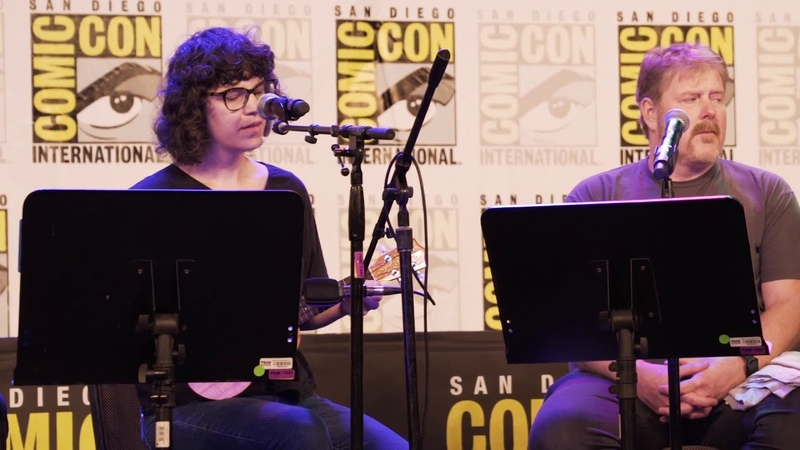 Adventure Time | Rebecca Sugar and Olivia Olson Singing Everything Stays | SDCC 2018