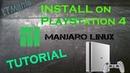 Manjaro v2 Linux install on PS4. Tutorial