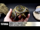 DIY How to make New style Bracelet Cuff - with Author's Design. Polymer clay Jewelry making