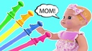 Emma Pretend Play with Bubbles Are you Sleeping Brother John Nursery Rhymes Songs learncolor
