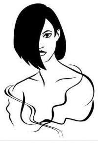 """Схема вышивки  """"Портрет девушки """": таблица цветов."""