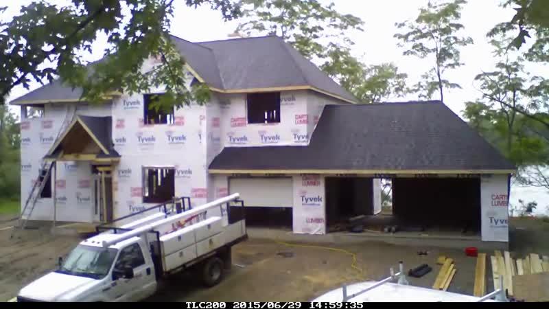 Ускоренное видео строительства дома