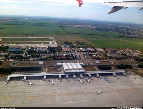 Аэропорт Борисполь с высоты