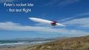 Peter's new Rocket kite, first test