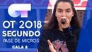 SEPTEMBER FAMOUS y MARTA SEGUNDO PASE DE MICROS GALA 8 OT 2018