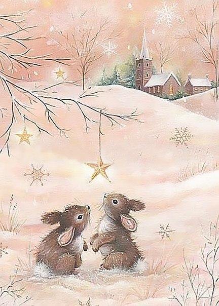 Милые новогодние иллюстрации :
