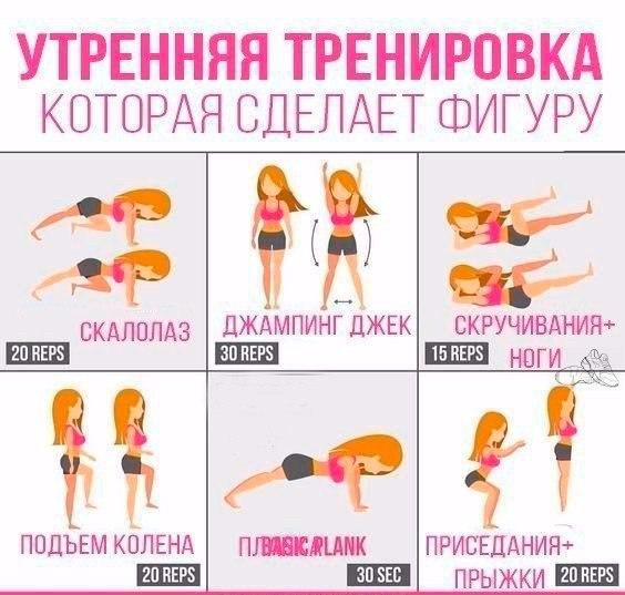Комплексное упражнения для девушек в домашних условиях