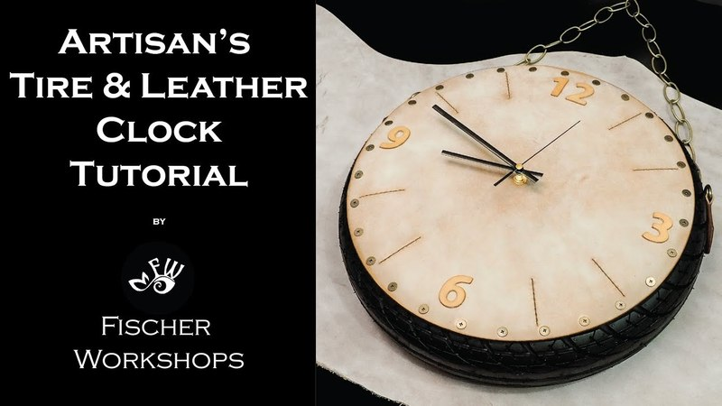 Artisan's Leather Tire Clock by Fischer Workshops Full HD