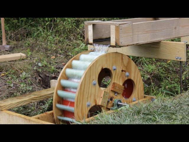 Waterwheel Microhydro P5, Waterwheel Installation