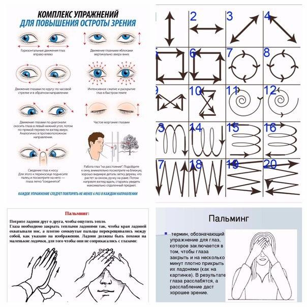 Быть здоровым - легко! Принципы выполнения зарядки для глаз: