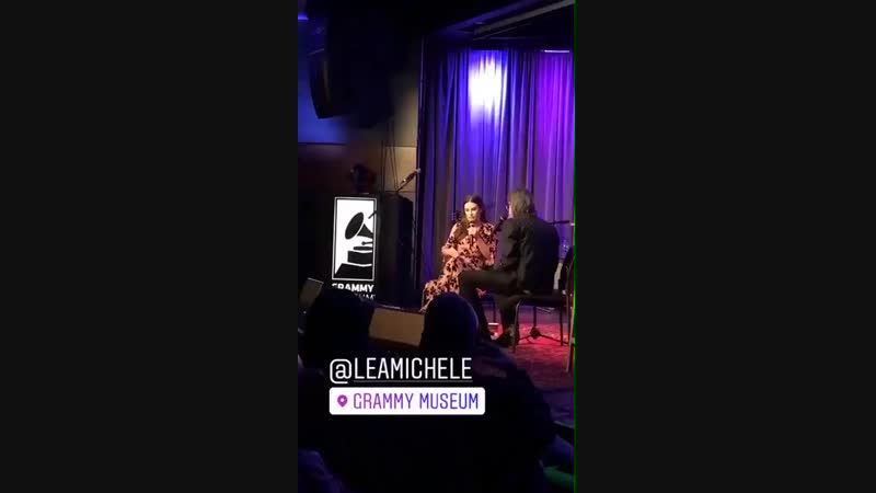'An Evening With Lea Michele' at The GRAMMY Museum in Los Angeles (November 6, 2018)