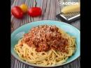 Итальянские спагетти Болоньезе