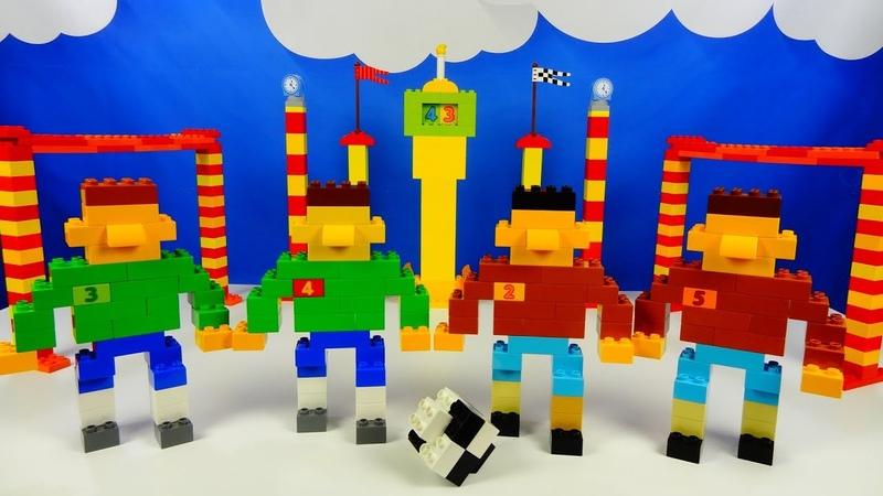 Строим из Lego Duplo, Lego Duplo football, the figure of a football player - Лего Дупло футбол
