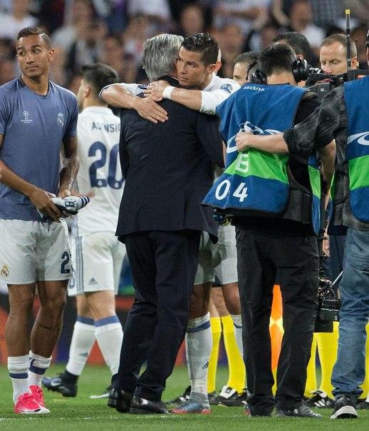 Криштиану Роналду и Карло Анчелотти после матча! Уважение превыше всего!