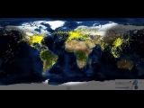Движение самолетов по всему миру за сутки
