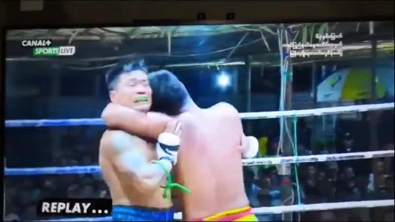 Бирманский бокс летхвей нокаутирующий удар головой Kayin State Day