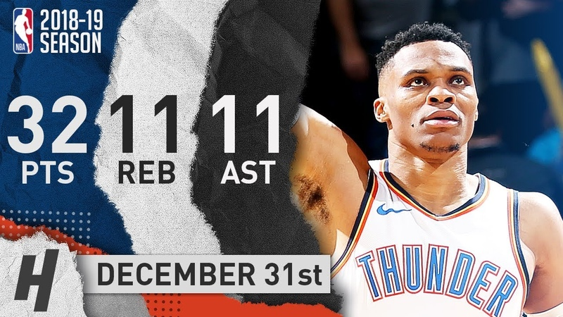Russell Westbrook EPIC Triple Double Highlights vs Mavericks 2018 12 31 32 Pts 11 Ast 11 Reb