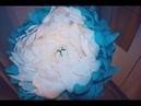 Фантазийный цветок из гофро. бумаги.