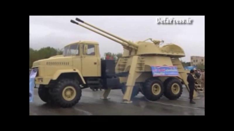 Iran army Tiam Tank Shahram NRPC Bahman 57mm SPAAG Kian 6x6 vehicle Pouria transporter