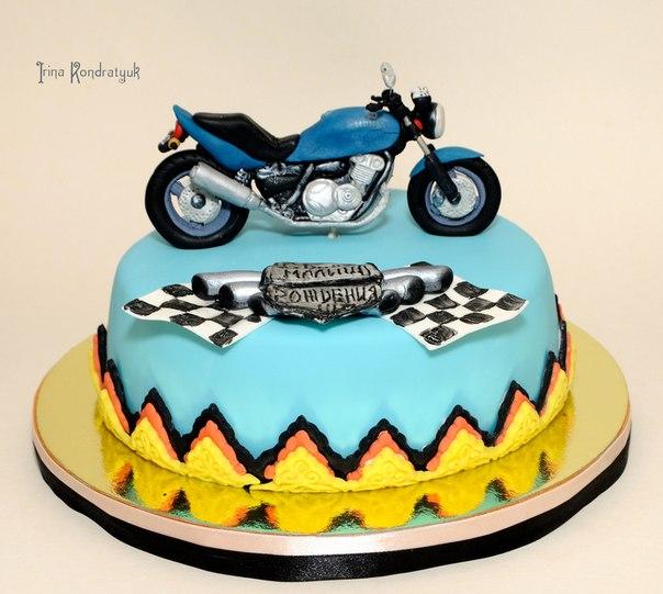Фото тортов для мужчин мото