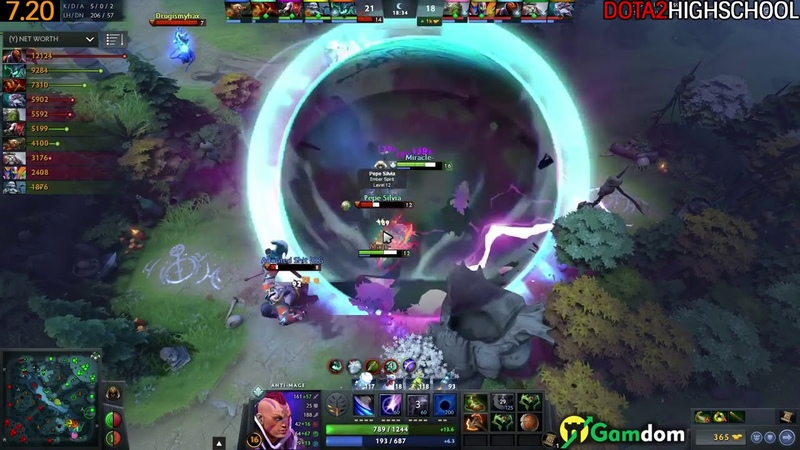 Miracle Anti Mage Max Attack Speed Build 1056 GPM 7 20 Dota 2