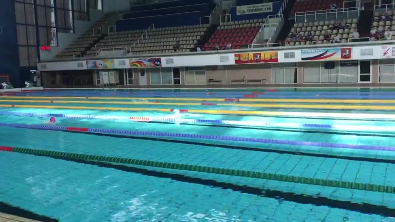 100м брасс, старшее первенство олимп-цетра(23.05.18) Екатерина Гуляева
