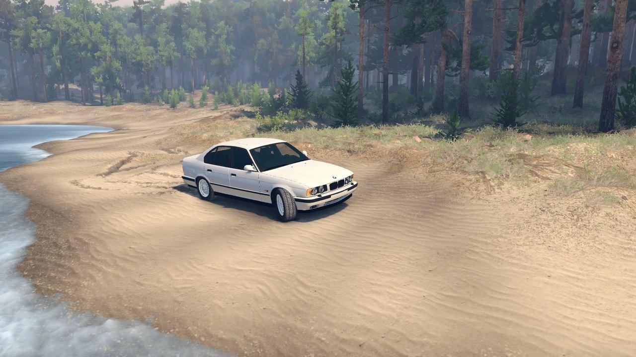 BMW e34 M5 1995 v.1.1 by Darius для Spintires - Скриншот 1