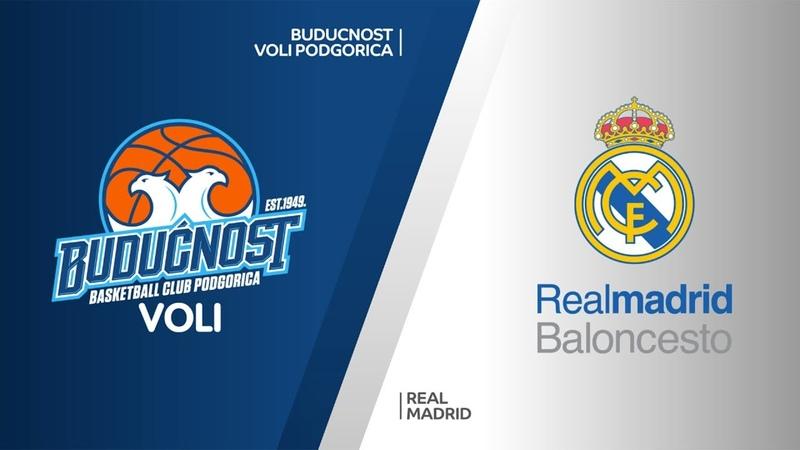 Buducnost VOLI Podgorica - Real Madrid Highlights | Turkish Airlines EuroLeague RS Round 19. Евролига. Обзор. Будучность - Реал