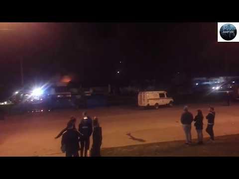 Пожар Волгодонске огонь охватил магазин магнит.