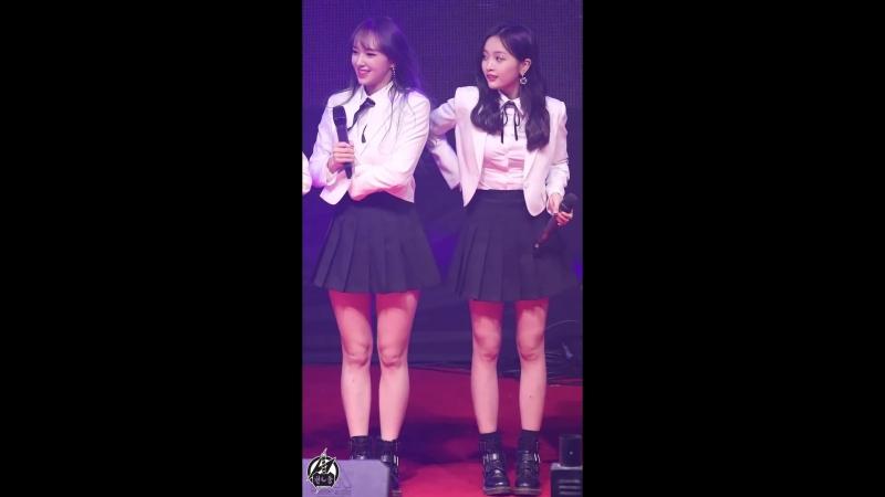 180223 우주소녀 선의, 성소 직캠 인사 및 교감 Cosmic Girls XUAN YI, CHENG XIAO Fancam (WJSN,宇宙少女)@부천대학교OT By 천둥