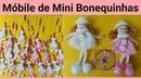 Móbile de Mini bonequinhas