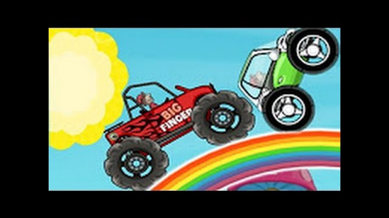 Game video for kids - Hilll Climb Racing : cartoon about cars