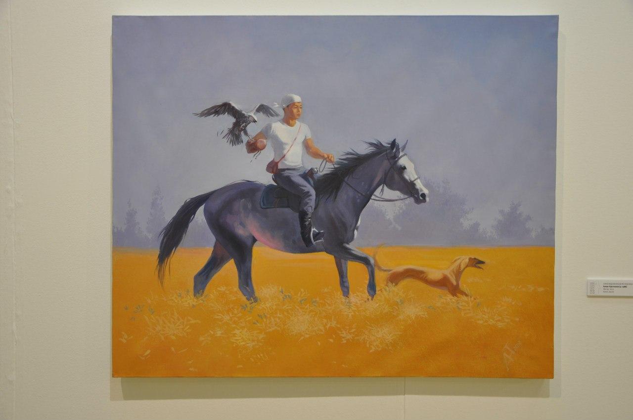 Союз художников Республики Казахстан  Алмас Нургожаев (р. 1988)  Жигер. 2012  Холст,