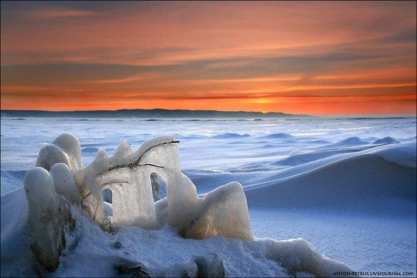 «Ледниковый период». Каневское водохранилище, Украина. Автор фото: .