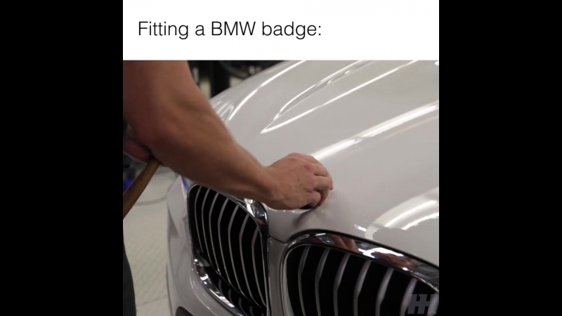 Fitting A BMW Badge With A Mallet