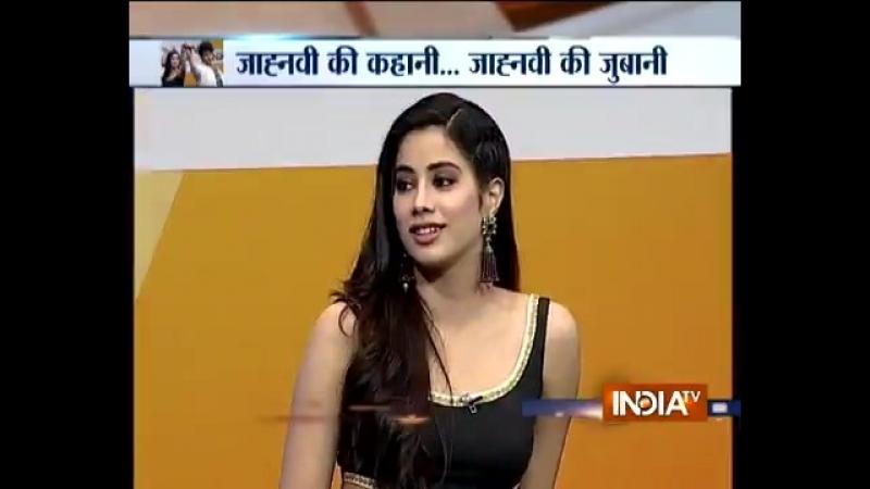 जह्नव ने बतय जब मं से पूछ एक्टंग के बरें में Watch Dhadak Girl JanhviKapoors exclusive interview with @sucherita k @imIs