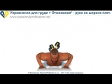 Упражнение для груди - Отжимания - Руки на ширине плеч