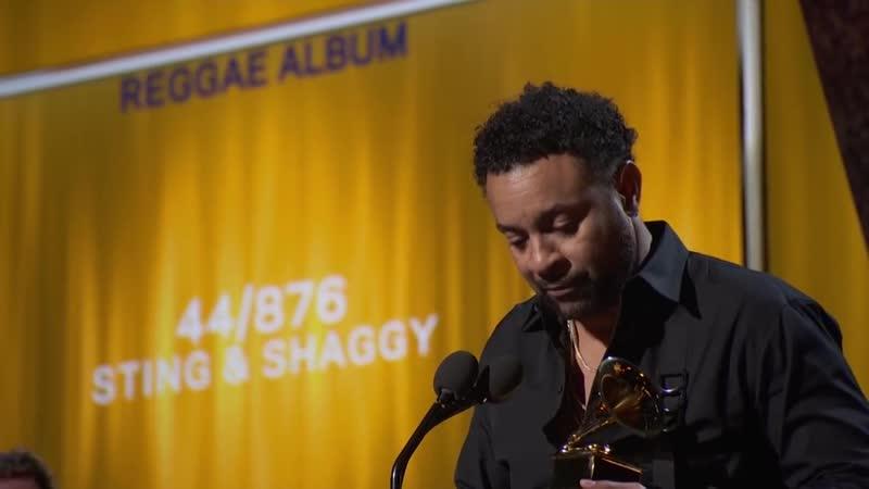 Sting Shaggy Win Best Reggae Album - 2019 GRAMMYs Acceptance Speech
