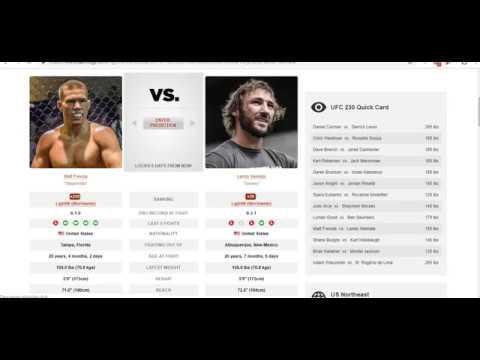 Прогноз и аналитика от MMABets UFC 230: Фревола-Ванната, Бургос-Холлобоу. Выпуск №122. Часть 2/6