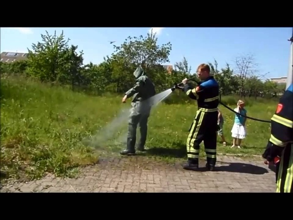 Green Rubber Wader Suit in Action